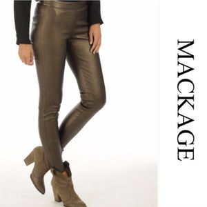 MACKAGE Lambskin Leggings Leggings  Navy-Y Strech Tights Pants Size 4